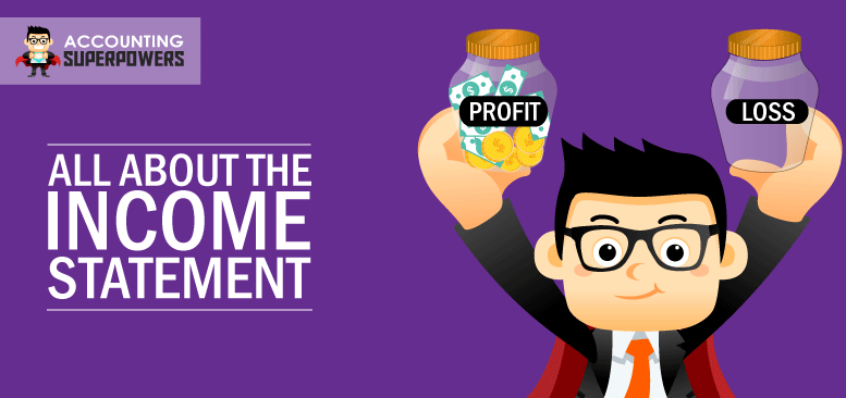 An animated image of a Superhero holding two Jars with one jar saying Profit and another jar saying Loss.