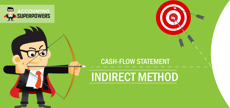 The Cash Flow Statement Indirect Method image of a man shooting a bow and arrow.